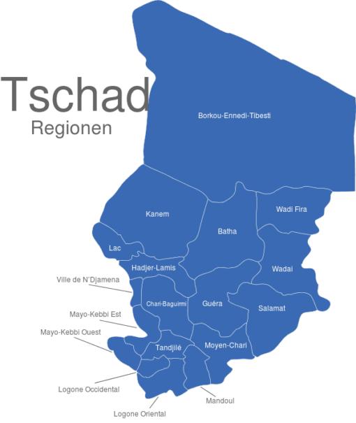 Tschad Regionen