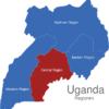 Map Uganda Regionen Central_Region