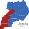 Map Uganda Regionen Western_Region