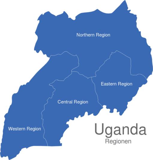 Uganda Regionen