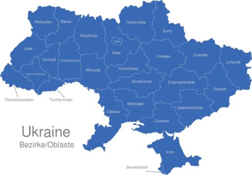 Ukraine Bezirke Oblaste