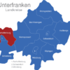 Map Unterfranken Landkreise Aschaffenburg