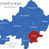 Map Unterfranken Landkreise Kitzingen