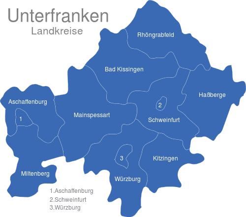 Unterfranken Landkreise