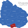 Map Uruguay Departments Canelones