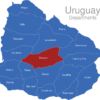 Map Uruguay Departments Durazno