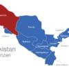 Map Uzbekistan Provinzen Karakalpakstan