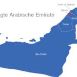 Map Vereinigte Arabische Emirate Ajman