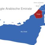 Map Vereinigte Arabische Emirate Dubai