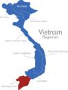 Map Vietnam Regionen Mekong_Delta