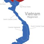 Map Vietnam Regionen Northeast
