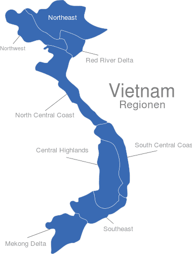 Vietnam Regionen