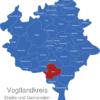 Map Vogtlandkreis Adorf