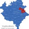 Map Vogtlandkreis Auerbach