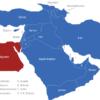 Map Vorderasien Länder Agypten