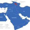 Map Vorderasien Länder Armenien