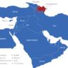 Map Vorderasien Länder Aserbaidschan