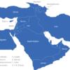 Map Vorderasien Länder Bahrain