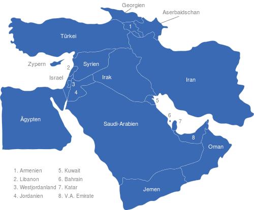 Vorderasien Länder