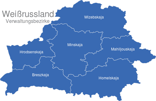 Weissrussland Verwaltungsbezirke