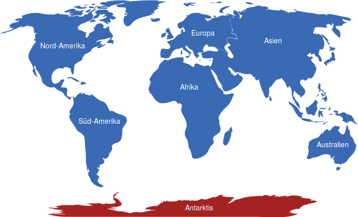 Antarktis Weltkarte
