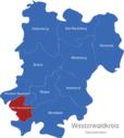 Map Westerwaldkreis Gemeinden GrenzhausenHöhr-