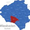 Map Wiesbaden Stadtteile Biebrich