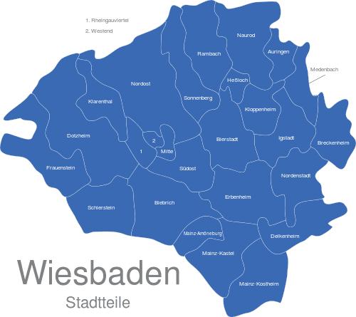 Wiesbaden Stadtteile