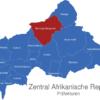 Map Zentral Afrikanische Republik Präfekturen Bamingui-Bangoran