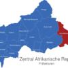 Map Zentral Afrikanische Republik Präfekturen Haut-Mbomou