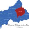 Map Zentral Afrikanische Republik Präfekturen Haute-Kotto