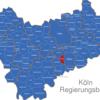 Map Köln Regierungsbezirk Alfter