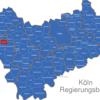 Map Köln Regierungsbezirk Alsdorf