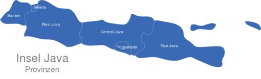 Java Karte Provinzen