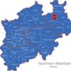 Map Nordrhein Westfalen   Nrw   Kreise Bielefeld