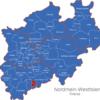 Map Nordrhein Westfalen   Nrw   Kreise Bonn
