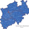 Map Nordrhein Westfalen   Nrw   Kreise Bottrop