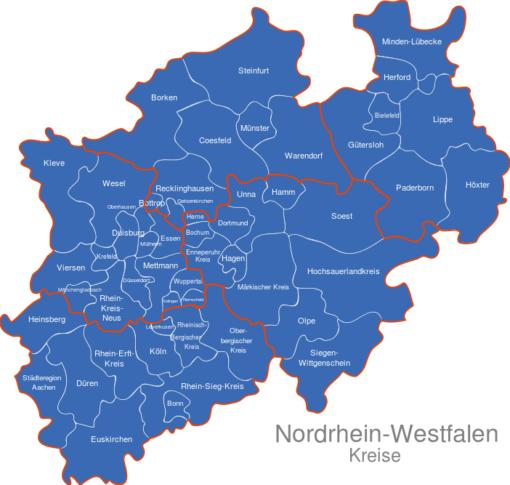 Nordrhein Westfalen   NRW   Kreise