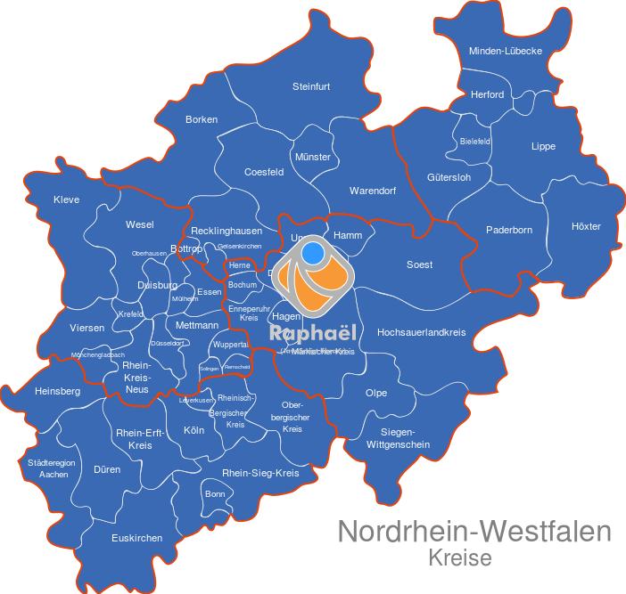 Nordrhein Westfalen Karte.Nordrhein Westfalen Nrw Kreise