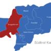 Map Südtirol Karte Bezirke Burggrafenamt